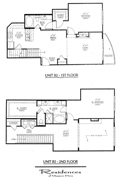 1,544 sq. ft. B2 floor plan