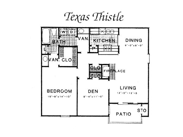 873 sq. ft. III A4 floor plan