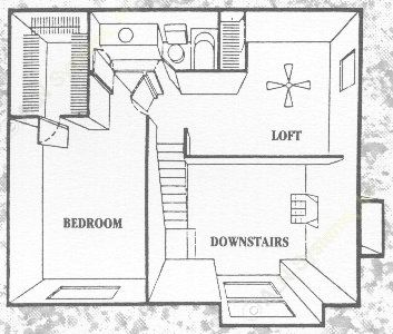 1,300 sq. ft. River Oaks floor plan
