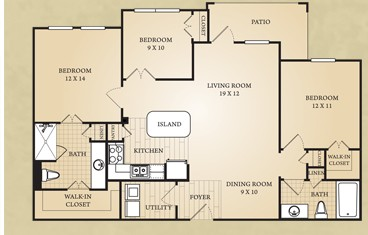 1,208 sq. ft. Colorado floor plan
