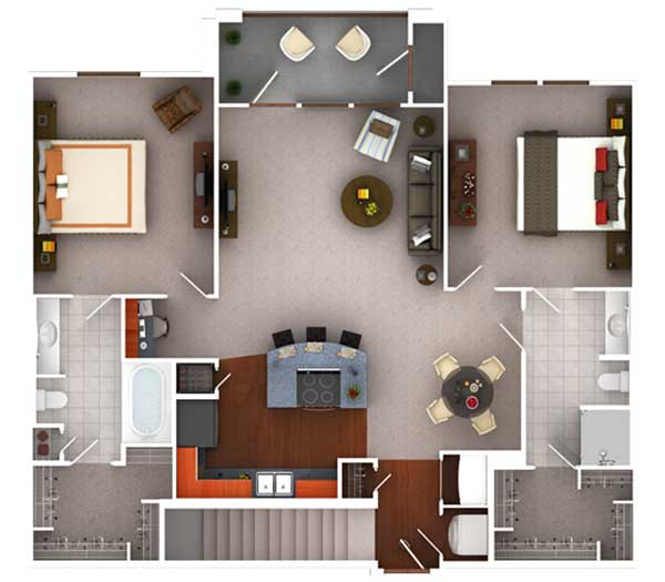 1,173 sq. ft. Bg1.2 floor plan