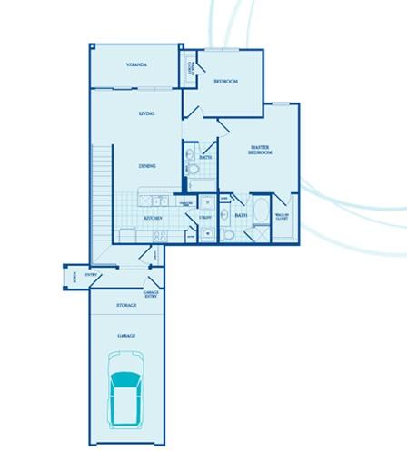 1,259 sq. ft. Sheffield - GAR floor plan