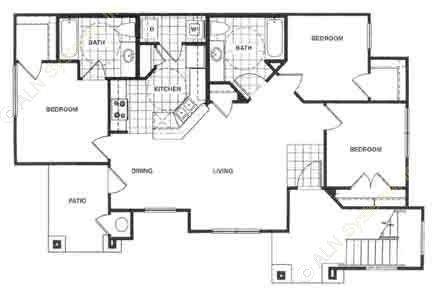 1,100 sq. ft. MKT floor plan
