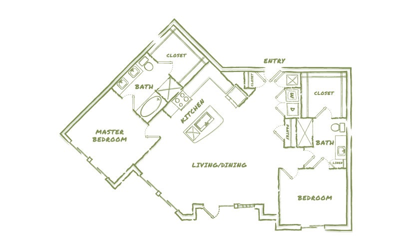 1,351 sq. ft. B7 floor plan