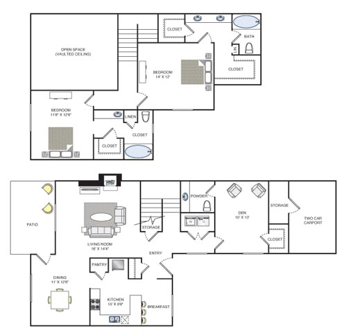 1,671 sq. ft. Blanford floor plan