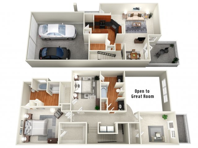 1,723 sq. ft. TH floor plan