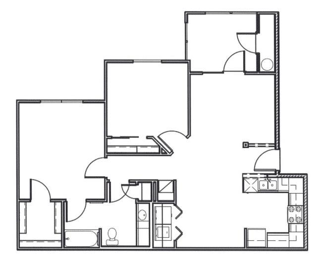 905 sq. ft. Brazos floor plan