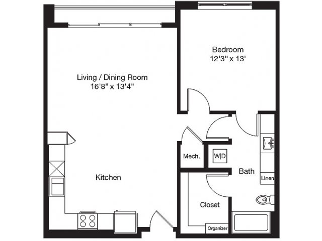 867 sq. ft. LG floor plan