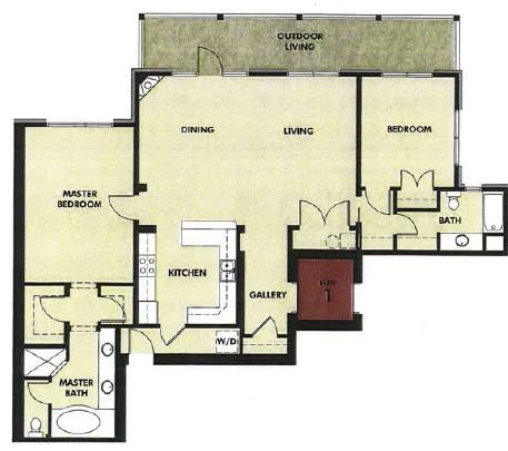 1,600 sq. ft. San Jacinto floor plan