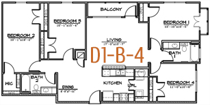 1,422 sq. ft. floor plan