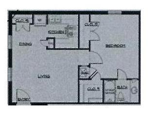 569 sq. ft. 50% floor plan