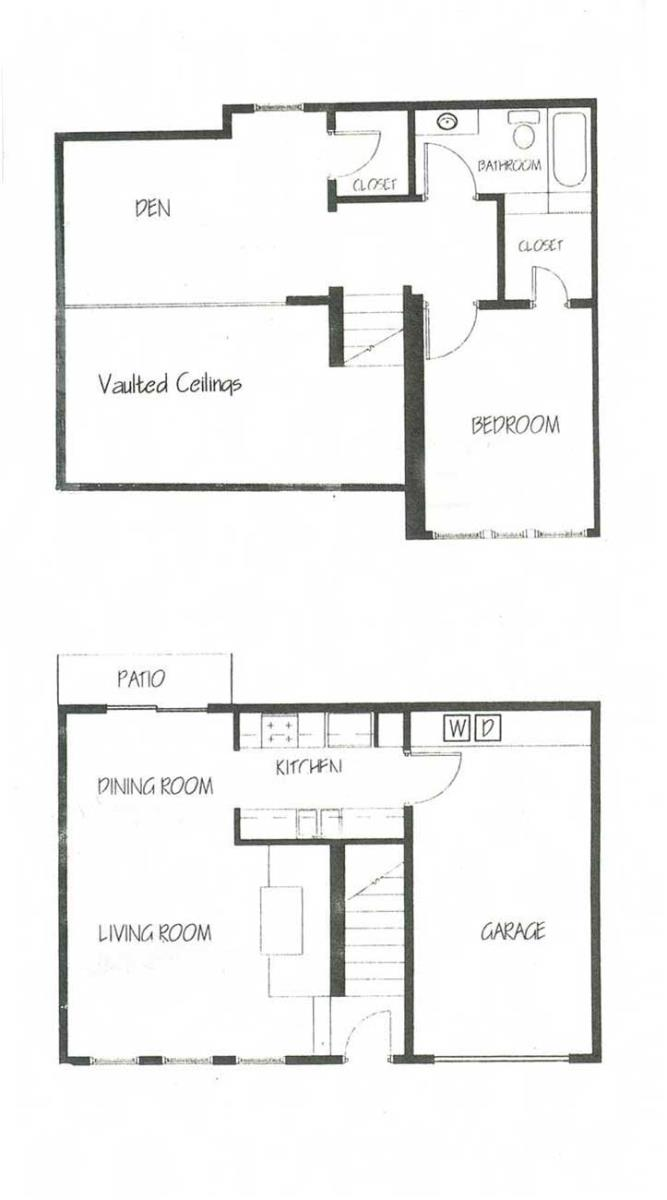 1,031 sq. ft. A2 floor plan