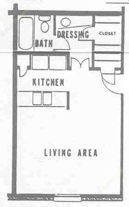 403 sq. ft. floor plan