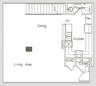 1,455 sq. ft. P18 floor plan