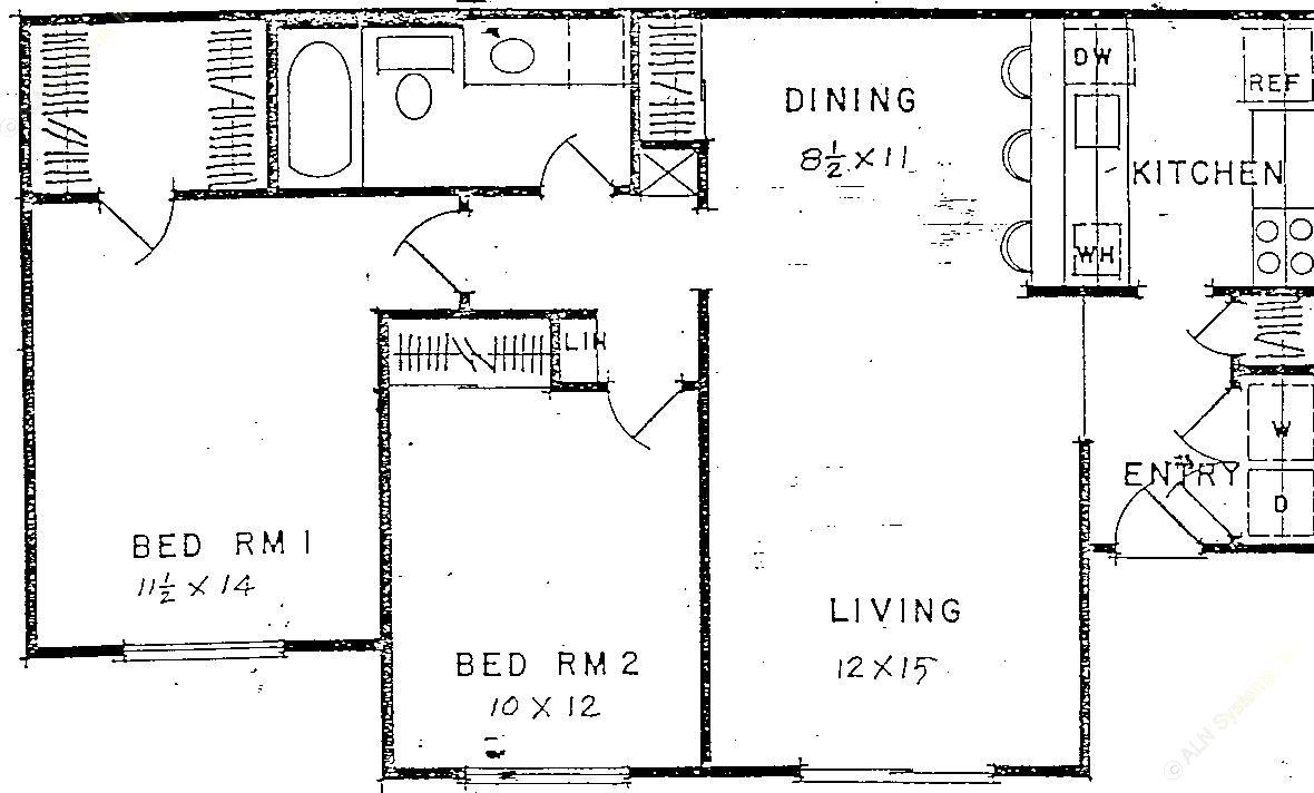 880 sq. ft. floor plan