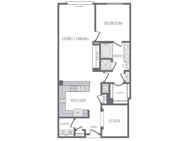 1,082 sq. ft. to 1,093 sq. ft. O floor plan