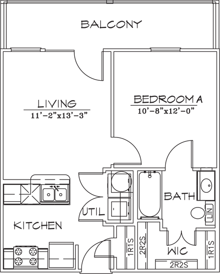 521 sq. ft. floor plan