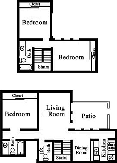 1,350 sq. ft. C2 floor plan