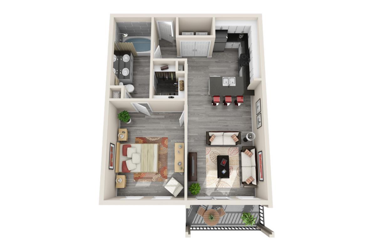 720 sq. ft. Singapore floor plan