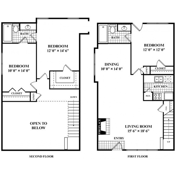 1,333 sq. ft. S4 floor plan