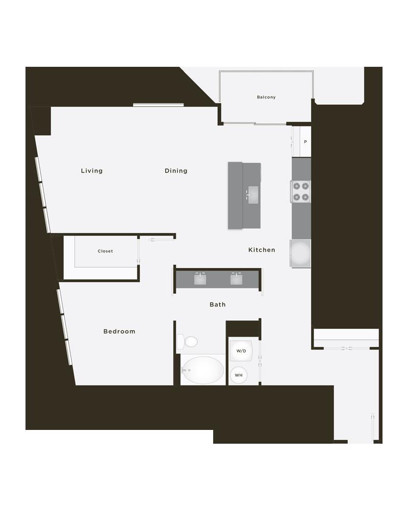 1,032 sq. ft. Pinnacle floor plan