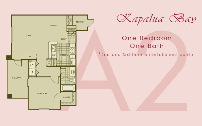 750 sq. ft. KAPAULA floor plan