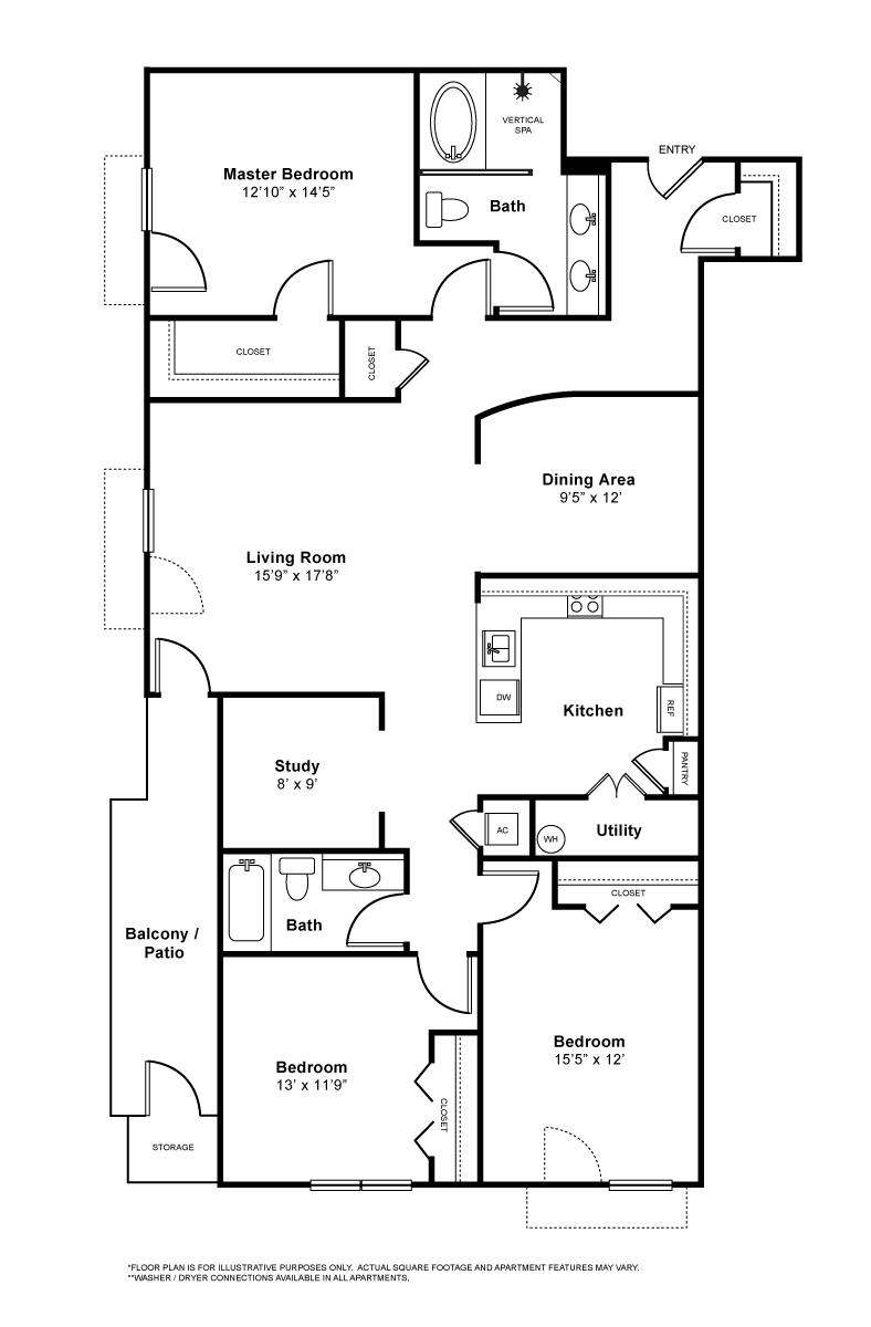 1,687 sq. ft. to 1,706 sq. ft. Palacade floor plan
