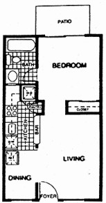 448 sq. ft. 60% floor plan