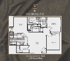 1,200 sq. ft. Mesquite floor plan