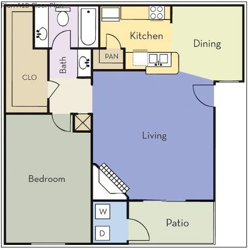 700 sq. ft. Dogwood floor plan
