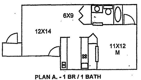 623 sq. ft. floor plan
