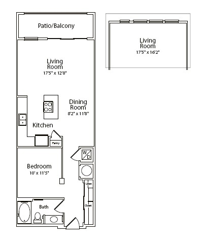 777 sq. ft. floor plan