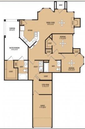 1,532 sq. ft. floor plan