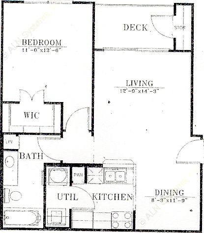 650 sq. ft. A1/Mkt floor plan