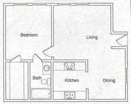 542 sq. ft. floor plan