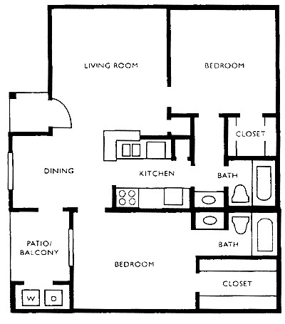 860 sq. ft. G floor plan