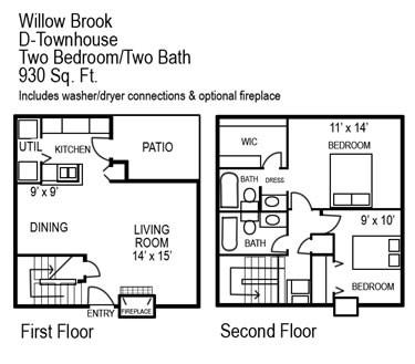 930 sq. ft. G floor plan