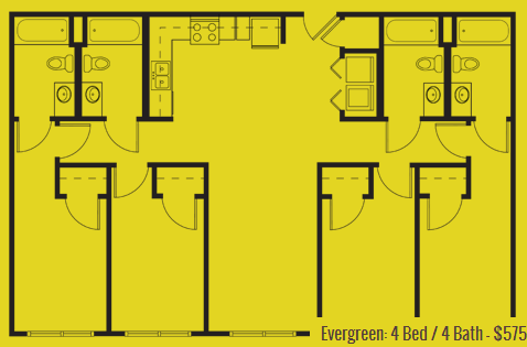 1,318 sq. ft. Evergreen floor plan