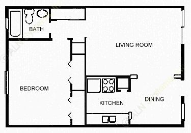 660 sq. ft. IMPERIAL floor plan