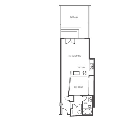 1,239 sq. ft. P1.7 floor plan
