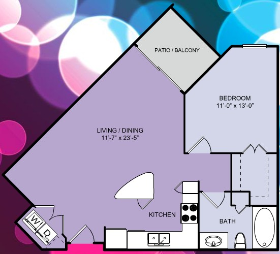 730 sq. ft. A4 floor plan