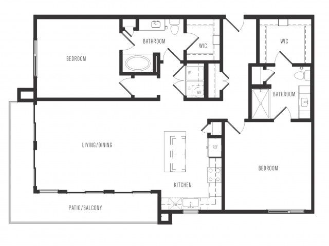 1,368 sq. ft. B3.1 floor plan