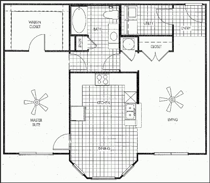 1,017 sq. ft. North Haven floor plan