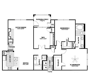 1,352 sq. ft. B4 floor plan