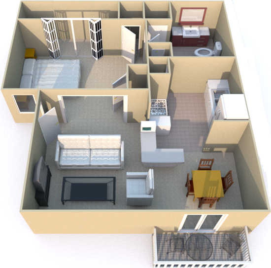 468 sq. ft. floor plan