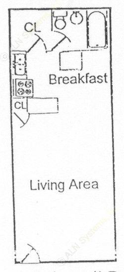 378 sq. ft. floor plan