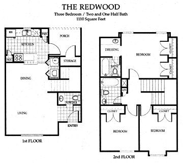 1,110 sq. ft. 60 floor plan