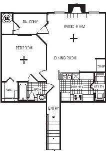 849 sq. ft. A3G floor plan