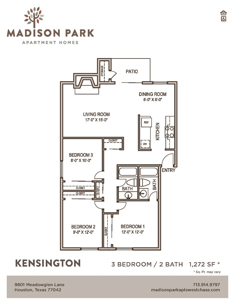1,272 sq. ft. floor plan