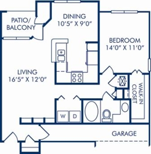 843 sq. ft. C (GAR.) floor plan